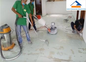 Bảng giá dịch vụ đánh bóng sàn đá Mài Terrazzo và Granito-công-nghệ-làm-sạch