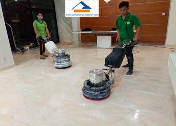 Bảng giá dịch vụ đánh bóng sàn đá Marble tại TPHCM-công-nghệ-làm-sạch