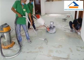 Dịch vụ đánh bóng sàn đá Mài-công-nghệ-làm-sạch