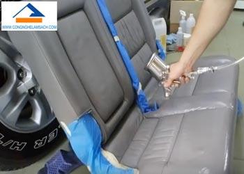Dịch vụ sơn phục hồi màu ghế da xe hơi (xe ô tô)-công-nghệ-làm-sạch