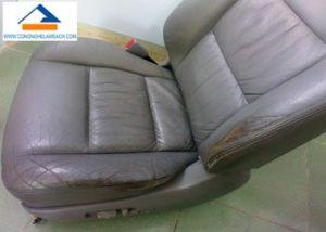 dịch vụ sơn phục hồi màu mới ghế da xe hơi xe ô tô tại tphcm-công-nghệ-làm-sạch