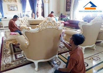 Dịch vụ sửa chữa sơn mới ghế Sofa (Salon) da bị bạc màu phai màu-công-nghệ-làm-sạch