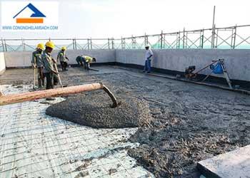 quy trình đổ sàn nền bê tông-công-nghệ-làm-sạch