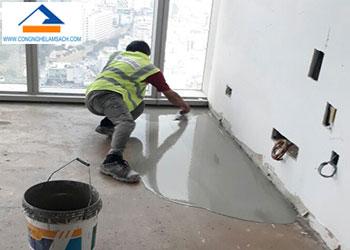 Thi công vữa tự san phẳng sàn bê tông-công-nghệ-làm-sạch
