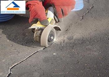 xử lý vết nứt sàn nền bê tông